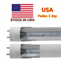 Grossistes T8 Pas Cher-LED Tubes 4 ft 4 Feet 18W 22W LED Tubes Fixture 4ft Clear Cover G13 120V Bulbes Lighting Retail / Wholesale