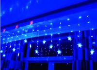 Wholesale Led Christmas Light Curtain Snowing - Snow Shape LED Curtain String 96Leds Lines Fairy light curtain For Wedding Christmas Window Decoration