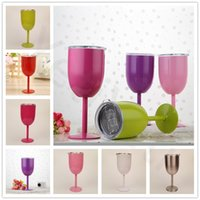 Wholesale Home Wares - 10oz Wine Glasses Europe Style Stainless Steel Goblet Great Capacity Cup Champagne Creative Home Drinking Ware Glass 10oz 400ml