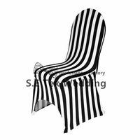 чехлы для стульев оптовых-Полосатый лайкра спандекс крышка стула \ дешевые банкетный свадебный стул крышка Бесплатная доставка