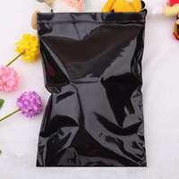 Wholesale 0 mm Big black color Ziplock Lock Zipped Poly light proof bags Plastic Zip Jewelry pouches