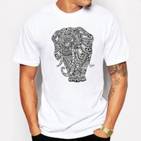 Camping Caminhadas T-Shirts T shirt homme bonito anime Cartoon Animal Royal Elephant T-shirt Para Homem Lovers Casal Fitness Tees manga curta
