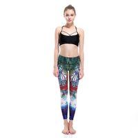 Wholesale Womens Leggings Xxl - Wholesale- LOVE SPARK S TO 3XL Plus Size Womens Running Pants Hand-painting 3D Elastic Sport Fitness Pants Woman Yoga Leggings Trousers
