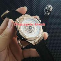 Wholesale Cheap Rose Gold Watch Men - Full diamonds rose gold case wristwatch men size automatic big Hexagon bezel bang limited 2017 new watch cheap watches