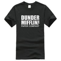 Wholesale Paper Tv - Company T Shirt Design Short The Office TV Show Dunder Mifflin Paper Crew Neck Fashion 2016 Tee Shirts For Men