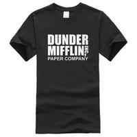 Wholesale Men Office Shirts - Company T Shirt Design Short The Office TV Show Dunder Mifflin Paper Crew Neck Fashion 2016 Tee Shirts For Men