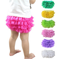Wholesale Wholesale Birthday Bloomers - Baby Girls Bloomers Cotton Summer Newborn Tutu Lace Ruffled Panties Baby Girls Infant Cotton Baby Shorts Toddler Birthday Party Clothings