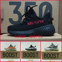 Wholesale White Canvas Baby Girl Shoes - Kanye West Season 3 SPLY 350 Boost V2 Sneakers Children Shoes Zebra Baby Boys Girls Kids Athletic Shoes Black White