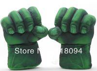 "Wholesale Superheroes Plush Toys - Wholesale-Plush The Incredible Hulk Gloves 11"" Superhero Figure Hulk Toys Children Christmas Kids Toy Free Shipping 1set"