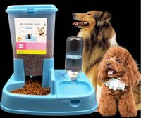 Wholesale Dog Automatic Feeding - Pet supplies Cat and dog pet water dispenser Automatic feeder Feeding dog drinking fountains Pet feeding water one