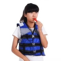 Wholesale kids sports whistle - Wholesale- Professional Children Life Vest Child Kids Life Jacket With Whistle for Water Sports Swimming Drifting Surfing Fishing Clothes