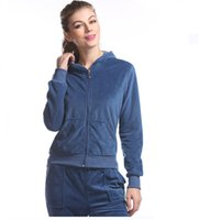 KASIRIA Women's Athletic Soft Velor Zip Up Hoodie and Sweat Pants Set Order 2 Sizes Up