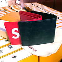 Wholesale Synthetic For Belt - Famous brand joint cooperation leather wallet Genuine Leather Wallet For Organizer Wallets Cash Carteira For Rfid +box super L ME