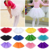 Wholesale Pettiskirt High Quality - High Quality Dance wear Tutu Ballet Pettiskirt Princess Party Skirt girls tutu skirt Wedding Prom Mini Dress