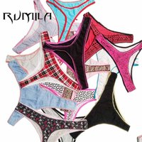 Wholesale Wholesale Organic Cotton Panties - 7XL big size Cotton Women Various styles Sexy Thongs G-string Underwear Panties Briefs Ladies T-back lingerie bikini ah114