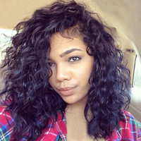 Wholesale Water Wave Human Lace Wig - 150%or130%density Lace Front wigs Curly Loose Water Wave Brazilian Full Lace Human Hair Wigs Pre Plucked Natural Hairline Bleach Knots Qtfn