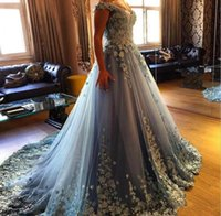 Wholesale Quinceanera Flowers - 2017 Quinceanera Ball Gown Dresses Cap Sleeve Sweetheart Sky Blue Tulle Hand Made Flowers Sweet 16 Floor Length Party Prom Evening Gowns