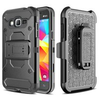 Wholesale Durable Plastic Clips - Heavy Duty Hybrid Durable Armor Case Shockproof Holster+Belt Clip Kickstand Hard Phone Cover Case For LG Aristo K20 plus Alcatel fierce 4
