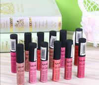 vintage lipgloss großhandel-2017 hot NYX Weiche Matte Lip Creme Lipgloss Lippenstift Vintage Langlebige NYX Lipgloss 10g 12 farben