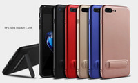 Wholesale Pink Cell Phone Stands - For Red Apple iphone X 8 iphone 7 plus 6S TPU case for samsung note8 S8 S8+ Bracket Kick stand cell phone cases
