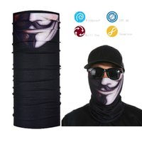 Atacado - Black Men's Face Shield Bandana Skull Tube Bandana Face Mask