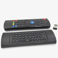 1pcs X3 MX3 T2 X8 Sem microfone Mini Giroscópio sem fio 2.4GHz Teclado Air Mouse Remote G-Sensor Gyroscope para Android TV BOX