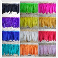 Crafts Factory 10 yards / lot 15 ~ 20 cm (6 ~ 8inch) in larghezza Fantastic DIY Decoration tinti multi-color tacchino Chandelle Feather Fringe Trim