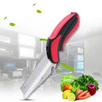 Wholesale Patented Next Generation Kitchen Clever Smart Cutter Smart Scissors in Knife Cutting Board Accessories Food Cheese Meat Vegetable