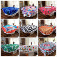 Wholesale Adult Baby Body - 19 Designs Polyester Tassel Bath Towels Outdoor Sport Beauty Shawl Towel Drying Washcloth Swimwear Shower Body Wrap Yoga Mat CCA6553 10pcs