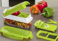 Wholesale Salads Machine - 12pcs Super Slicer Plus Vegetable Fruit Peeler Dicer Cutter Chopper Nicer Grater Good Fruit Salad Machine