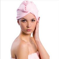 Wholesale Microfiber Towels For Hair - Microfiber cloth thickening dry hair hat super absorbent quick-drying shower cap hair bath towel for women girl