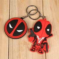 Wholesale Marvel Cartoon Characters - 20pcs lot 2 Sty Marvel Anime X-MEN Deadpool PVC Keychain Toys Action Figures Toy Dolls For Collections Q Version 8cm Can Choose