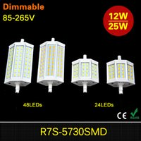 2017 Novo 1PCS Dimmable R7S LED 15W 25W Lâmpada Lâmpada CREE SMD5730 r7s 78mm J78 118mm J118 Spot Light Substituir Lâmpadas Halógenas Floodlight