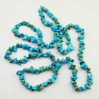Wholesale Turquoise Blue Bead Necklace - YZ39 1strand Beautiful blue Turquoise chip loose bead 34inch