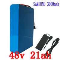 Wholesale Lithium Batteries For E Bike - 48V e-bike Battery 1000W 48V 21AH Electric Bike Battery 48V Lithium Battery Use for Samsung 3000mAh Cell with 30A BMS 2A Charge