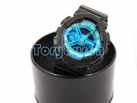 Wholesale Top Led Gifts - 1pcs top relogio G110+box men's sports watches, LED chronograph wristwatch, military watch, digital watch, good gift for men & boy, dropship