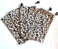 Wholesale Zebra Print Brown - 50pcs Leopard Eyeglasses Pouch Zebra Sunglasses Microfibre Bag Animal Print Eyewear Case Free Shipping