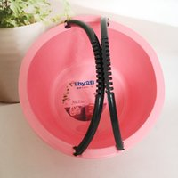 Wholesale Wholesale Portable Sinks - 40cm Home Thickening Plastic Basin Double Handle Portable Pots Practical Laundry Deep Basin Large Capacity Advertising Printable LOGO