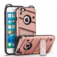 Stand Wave Dot Hybrid Case para Iphone X 8 7 Plus 7PLUS 6 6S SE 5 5S Samsung Galaxy Note8 J5 J7 Prime Hard PC TPU Armor Cell Phone Skin Cover