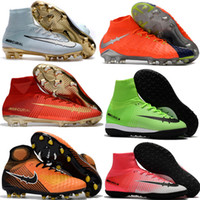 Wholesale Laser Aa - Mercurial Superfly V FG Soccer Cleats Shoes Top Quality Soccer Boots Laser Football Shoes Mercurial x EA Sports Magista Obra Football Boots