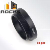 Wholesale cs camera - Wholesale- 10 pcs 5mm C-CS Mount Lens Adapter Ring Extension Tube Suit for CCTV Security Camera digital x10