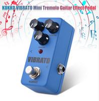 Wholesale Guitar Tremolo Parts - Free shipping KOKKO FVB2 VIBRATO Mini Electric Guitar Effect Pedals Vibrato Effects Similar To Tremolo True Bypass Parts & Accessories