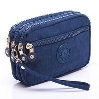 Wholesale Multipurpose Purse - 10 pcs Fashion Nylon Multilayer Multipurpose Small Handbag Coin Purse Bag