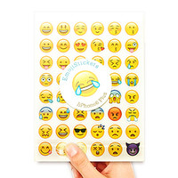 20 fogli 960 Die fronte di sorriso di Espressione Emoji adesivi per Diary Photo Album Ricompensa Notebook School Teacher Merito Lode Decor