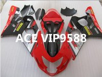 Wholesale Gsxr Abs Motorcycle Fairing - 3 gifts Motorcycle Fairing kit for SUZUKI GSXR600 750 K4 04 05 GSXR 600 GSXR 750 2004 2005 Motorcycle Fairings set ABS Black Red PA5