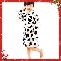 Wholesale Girls Nightgowns - Baby Girls Boys Bathrobe Printed Flannel Nightgowns Children Bathrobe