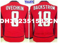 2b39a7e87 New Youth Alex Ovechkin Ice Hockey Jerseys 8 Alexander Ovechkin Youth Team  Color Red 19 Nicklas Backstrom Jersey Lady s Girl You ...