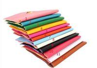 Wholesale Color Block Clutches - Spring Summer Women Clutch Bag Business Leather Handbags Multi Candy Color Block Fahsion Bag Woman Envelope Bag