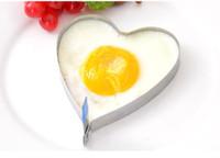 coração, formado, ovo, fritar, anéis venda por atacado-Em forma de coração inoxidável é frito ovo frito omelete panqueca anel molde denim DIY