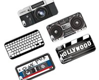 Wholesale Iphone 5c Keyboard - Retro Camera Cassette Tapes Boombox Calculator Keyboard Soft Phone Case for iPhone 6 6Plus 6S 7 7Plus 5 5S SE 5C SAMSUNG